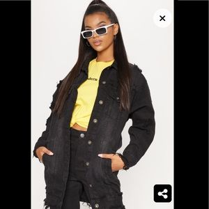 PrettyLittleThing longline destressed jacket